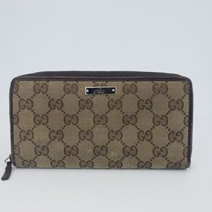 Gucci VTG Canvas Wallet GG Pattern